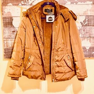 Puffer Style Outerwear, MidWaist, Wool Lining
